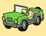 Coloring page Jeep painted bylorna