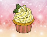 Coloring page Lemon cupcake painted bybbbb