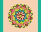 Coloring page Mandala 1 painted bylorna