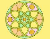 Coloring page Mandala 11 painted bylorna