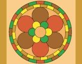Coloring page Mandala 2 painted bylorna