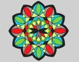 Coloring page Mandala 3 painted bylorna