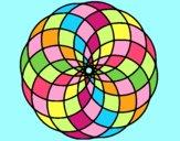 Coloring page Mandala 4 painted bylorna