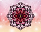 Coloring page Mandala concentration flower painted byLazy
