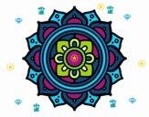 Mandala greek mosaic