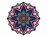 Coloring page Mandala simple symmetry  painted byLolz