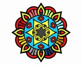 Coloring page Mandala vegetal life painted byJalee