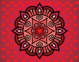Coloring page Mandala vegetal life painted byLazy