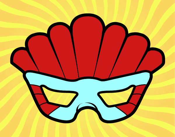 Mask with plumes