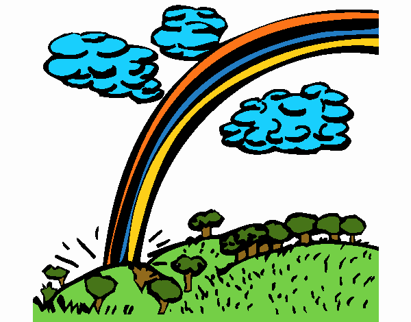 Coloring page Rainbow painted byNerak