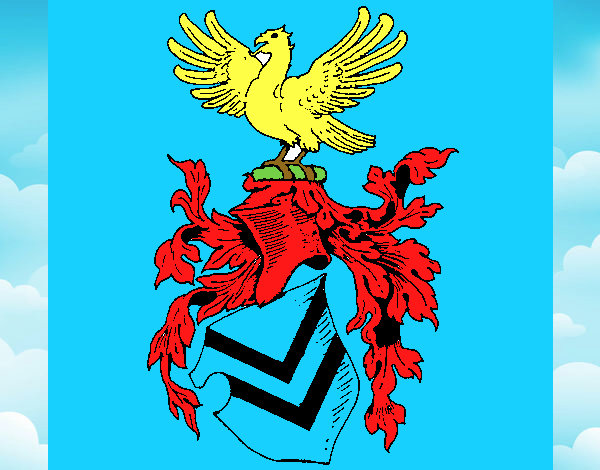 Shield with weapons and eagle