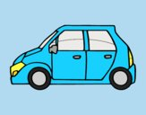 Coloring page Small car painted bylorna