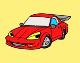 Coloring page Sports car with aileron painted bylorna