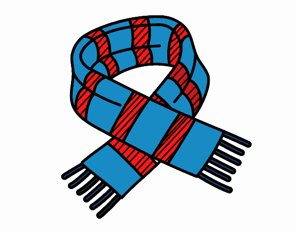 Coloring page Striped scarf painted byNerak