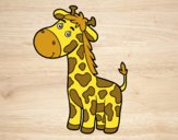 Coloring page A giraffe painted byBella0