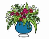 Coloring page A vase with flowers painted byMarmar2552