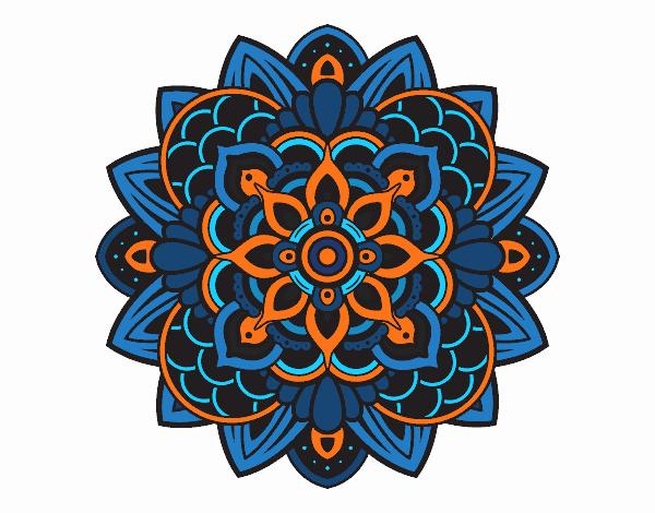 Coloring page Decorative mandala painted byNerak