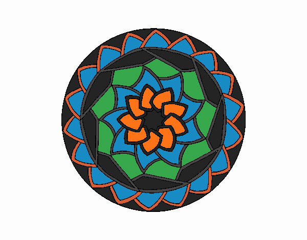 Coloring page Mandala 1 painted byNerak