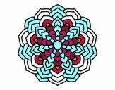 Coloring page Mandala flower petals painted byBella0