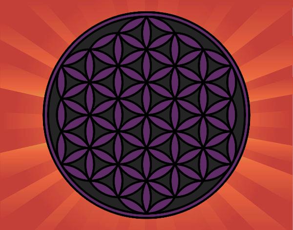 Coloring page Mandala lifebloom painted byBella0