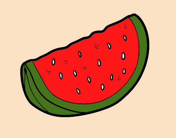 A piece of watermelon