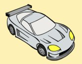 Coloring page Contemporary car painted bylorna