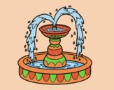 Coloring page Fountain painted bylorna