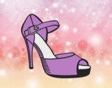 Coloring page Heel slingback painted bylorna