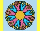 Coloring page Mandala 37 painted bylorna