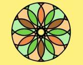 Coloring page Mandala 38 painted bylorna