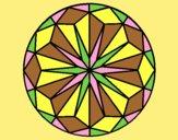 Coloring page Mandala 42 painted bylorna