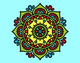 Coloring page Mandala to relax painted bylorna