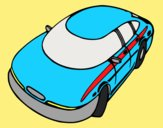 Coloring page Speedy car painted bylorna