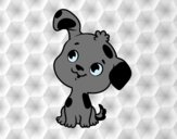 Coloring page Dog puppy painted bylorna