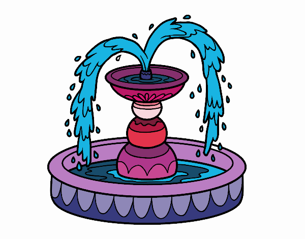 Coloring page Fountain painted bySamantha