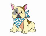 Coloring page French Bulldog painted bySamantha