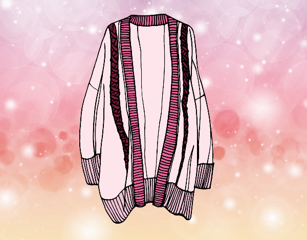 Coloring page Long open sweater painted bySamantha