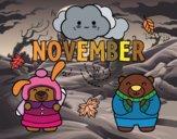 Coloring page November painted bySamantha