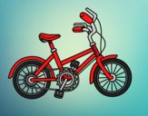 Coloring page Bicycle for children painted byANIA2