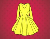 Coloring page Dress with full skirt painted byANIA2