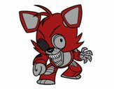 Coloring page Foxy from Five Nights at Freddy's painted byBella0