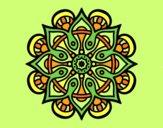 Coloring page Mandala arab world painted bylorna