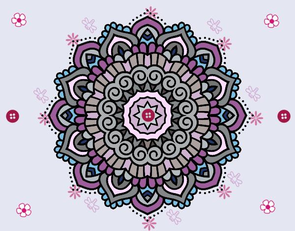 Mandala decorated star
