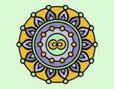 Coloring page Mandala meditation painted bylorna