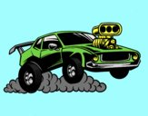 Coloring page Sport muscle car painted byANIA2