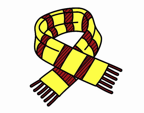 Coloring page Striped scarf painted byBella0