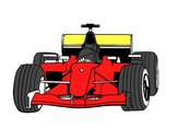 Coloring page F1 car painted byDallas