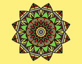 Coloring page Fruit mandala painted bylorna