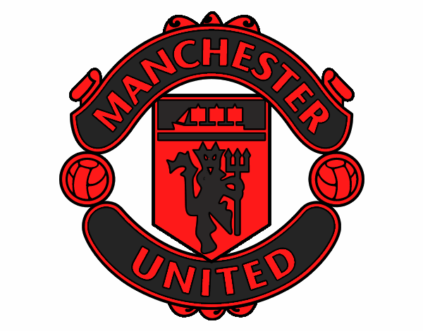 Colored Page Manchester United Fc Crest Painted By User Not Registered