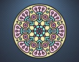 Coloring page Mandala crop circle painted bylorna